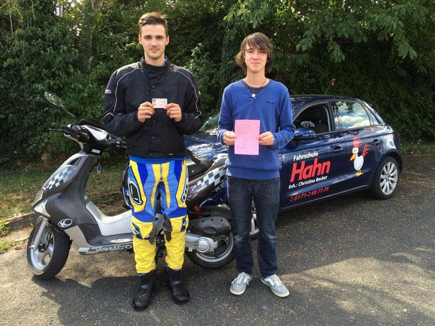 Kevin Malinka  ( AM ) und Fabian Baumann ( Auto )