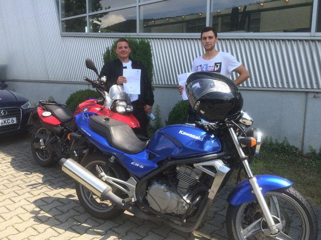 Klaus Franz (A) und Rafael Ott (A2) haben beide am 22.07.2016 in Wertheim bestanden.