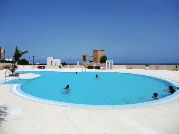Ferienapartment mit Pool in Poris de Abona im Südwesten auf Teneriffa, ideal für Familienurlaub.