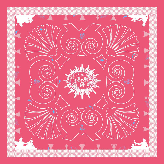 Foulard Fanfaron Roi Soleil Paris Carré de soie Made in France