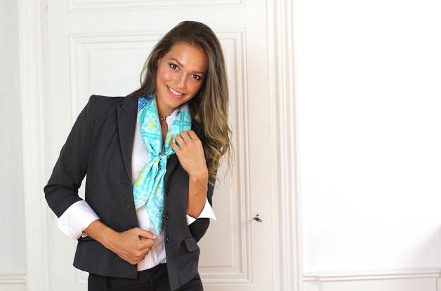 foulard fanfaron carre de soie made in france concorde