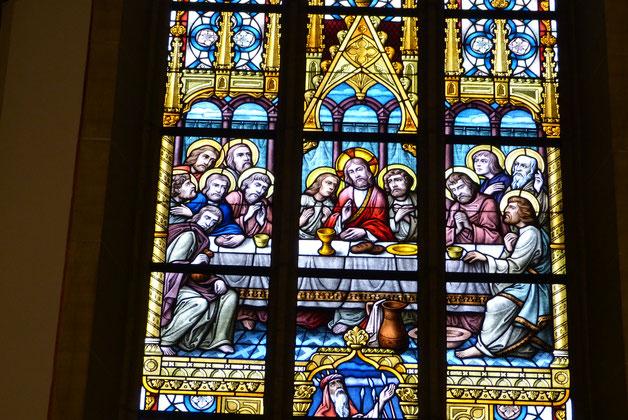 Fensterbild in der St. Cyriakus-Kirche