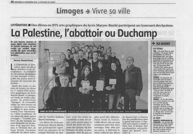 Le Populaire - Mercredi 14 novembre 2012 - page 14