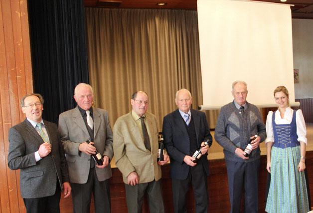 Ehrung von langjährigen Mitgliedern Auf der diesjährigen Generalversammlung des MVRG wurden langjährige Mitglieder für ihre 50-jährige Mitgliedschaft geehrt und zu beitragsfreien Fördermitgliedern ernannt.