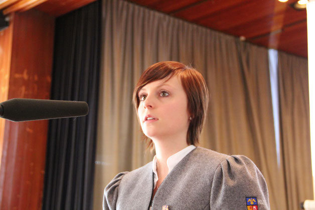 Erfreulich Jugendleiterin Bettina Fluhr konnte von der durchaus erfolgreichen Jugendarbeit im Verein berichten, 47 junge Musiker werden im Moment ausgebildet