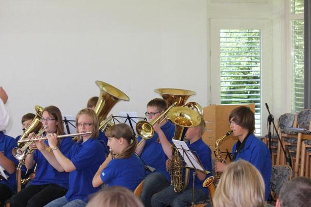Das Vororchester unter Leitung von Klaus Wachter zeigte am Vorspielnachmittag sein Können