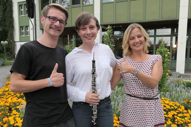 Tina Müller (Mitte) nahm in der zweiten Kurswoche am D2-Kurs erfolgreich teil!