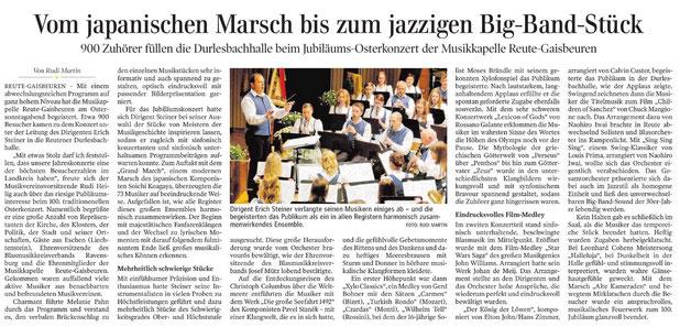 Bericht der Schwäbischen Zeitung vom 18.04.2017