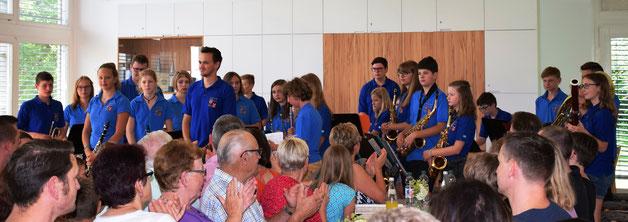 Das Vororchester beim Vorspiel im Jahr 2018