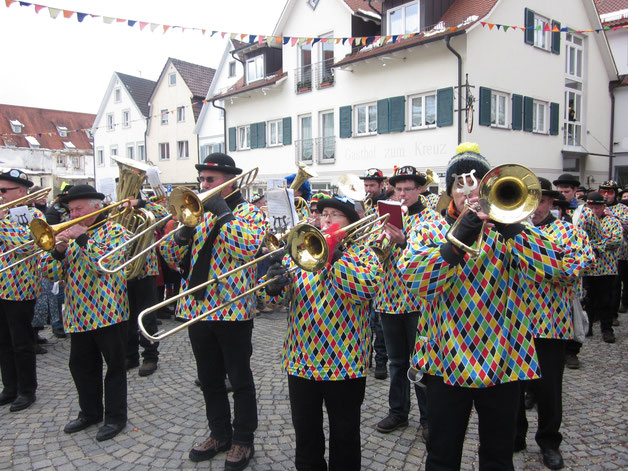 über 25 Jahre treue Dienste - die legendär-kultige alte Fasnetsuniform der Musikkapelle Reute-Gaisbeuren