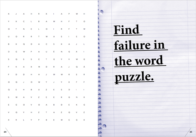 Quelle: THE FUCKUP BOOK, FIRST EDITION 05/2015 - FIND FAILURE