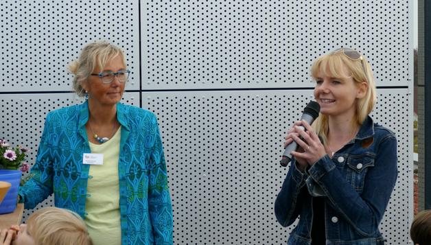 Raphaela Petersen, Stellvertretende Vorsitzende des Elternbeirats, brachte ihre Freude über das erweiterte Angebot auf dem Campus-Gelände zum Ausdruck.