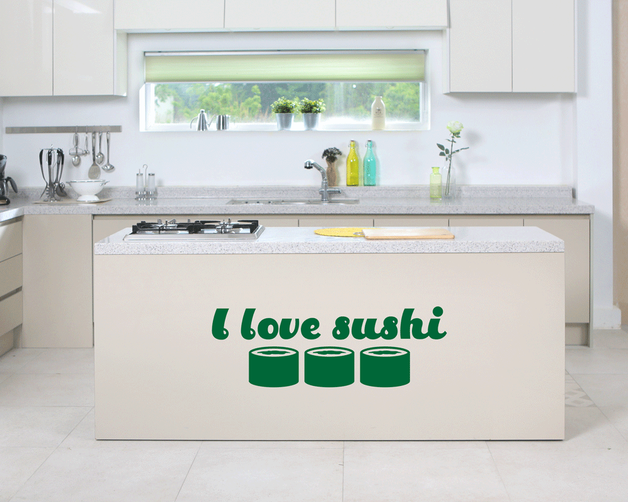I love sushi wall art sticker. From www.wallartcompany.co.uk