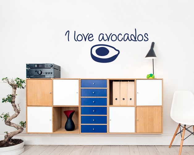 I love avocados wall art sticker. From www.wallartcompany.co.uk