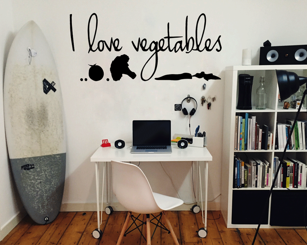 I love vegetables wall art sticker. From www.wallartcompany.co.uk