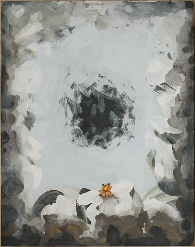 """schwarzes Loch"" - Acryl-Leinwand, 2009 (160x125)"