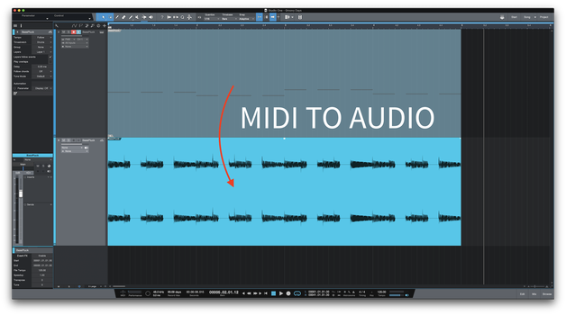 Bouncing midi to audio is beneficial in many ways
