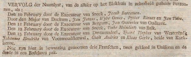 Friesche courant gelykheid, vryheid en broederschap 14-02-1797
