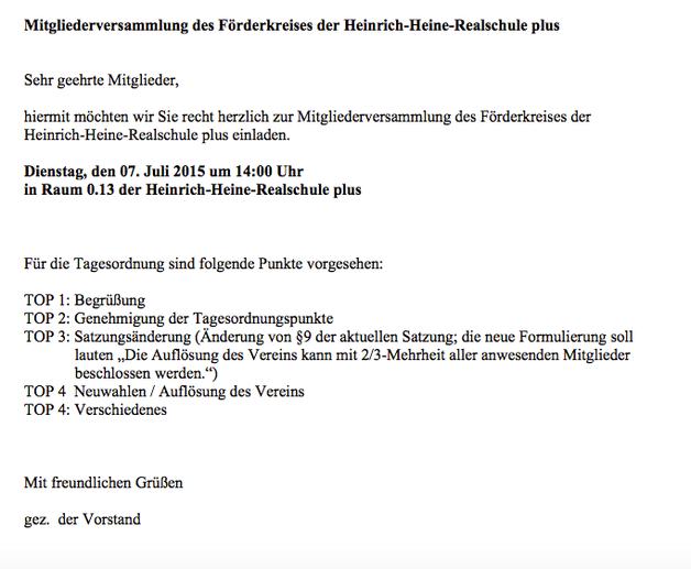 archiv - heinrich - heine -realschule plus, Einladung