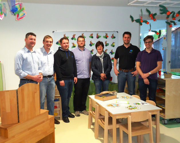 Leiterin Frau Wirth mit JU Mitgliedern und JU Kreisvorsitzenden Andreas Aichinger