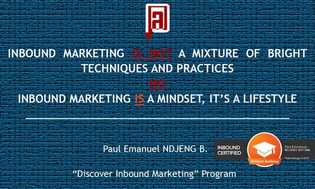 Ce qu'est l'Inbound Marketing d'après @PEN, Paul Emmanuel NDJENG, le stylo numérique_Inbound Marketing au Cameroun et en Afrique