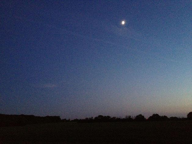 イギリスの夕暮れ これはパブまで歩いているときに撮影しました 夏なので9時を過ぎの?