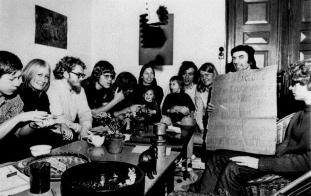 Rudi Dutschke i studenterkollektivet Aldershvile 20. februar 1971
