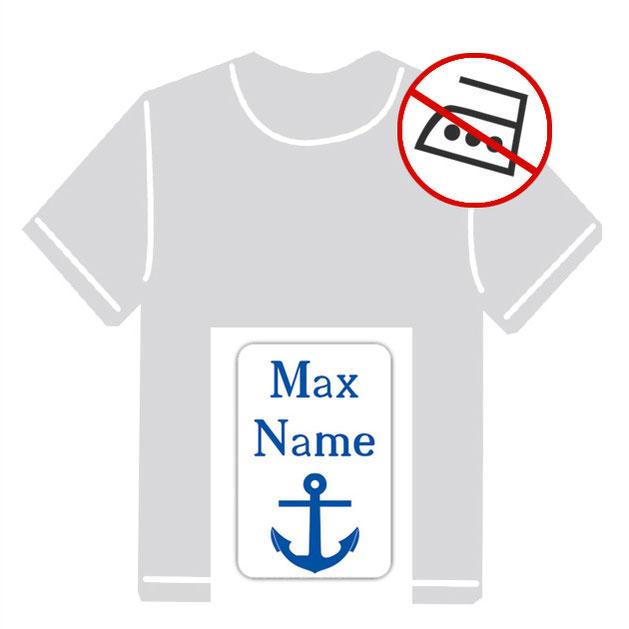 Kleidungsaufkleber für kurzfristige Markierung der Kleidung - ohne Aufbügeln - pvc-frei - Motiv: Anker