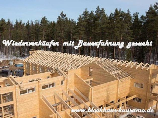Wohnblockhäuser: Blockhaus-Bausätze für Zimmereien / Bauunternehmer - Wir suchen für unsere Häuser nach einer Baufirma mit Vertrieb in  Sachsen-Anhalt  - Blockhäuser zum Wohnen in echter massiver Blockbauweise - Hochwertige Holzhäuser in Blockbauweise