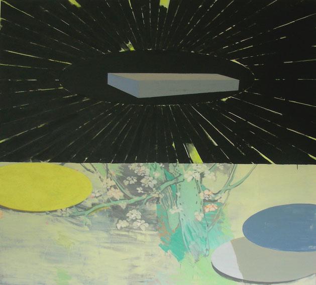 """ Hanami Ikone"", 2006, Öl auf Leinen, 140 x 160 cm"