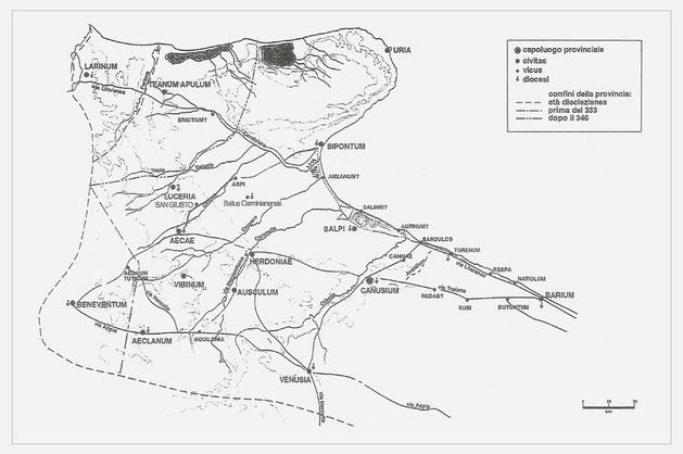 Carta dell'assetto insediativo ed economico dell'Apulia tardoantica