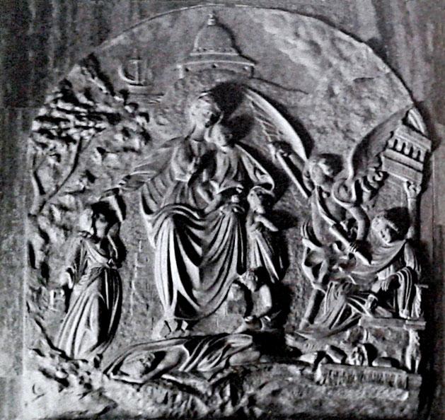Padre Benedetto Nardella da San Marco in Lamis Madonna della Pace, in marmo. Campobasso, chiesa di Santa Maria del Monte