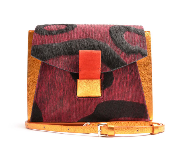 OSTWALD Bags . Glide Shoulderbag . Leather . multicolour . copper and red . Shop Online