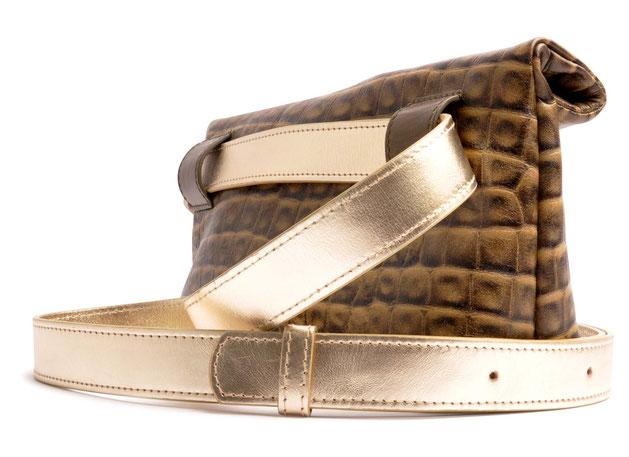 OSTWALD Bags . HIP . Body bag  . Leather bag  . taupe .  Crossover bag . Shop online . Webshop