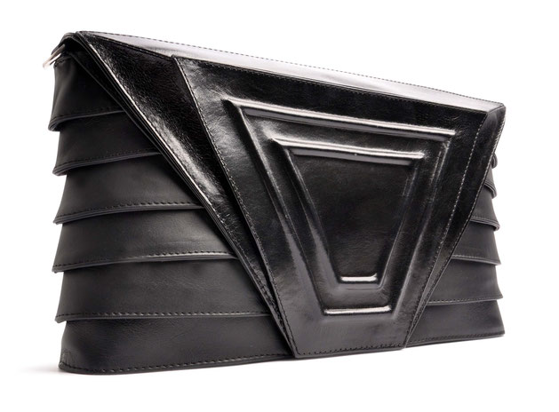 OSTWALD Art Couture Bags . Clutch TAIPEI  . Online Shop for Contemporary Handbags. Leatherbag . midnight black