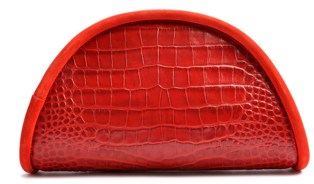 OSTWALD Bags . Calzone . Clutch . Leather . red . Shop Online . Handcrafted Bag