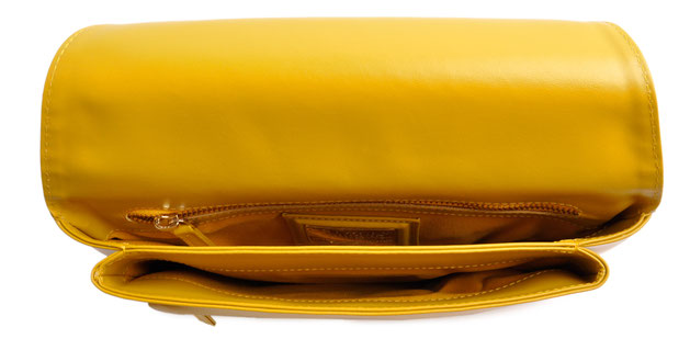 OSTWALD Bags . Finest Couture . Handcrafted Leatherbag . Clutch . Envelope Clutch . mustard . Yellow Clutch . Slow fashion