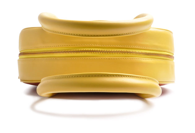 OSTWALD Bags . Finest Couture . Handcrafted Leatherbag . Circle Soft Tote . Leatherbag in yellow, beige and cognac. multicolored purse . Slowfashion