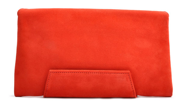 OSTWALD Bags . Finest Couture . Handcrafted Leatherbag . Clutch . Envelope Clutch . red . Slow fashion