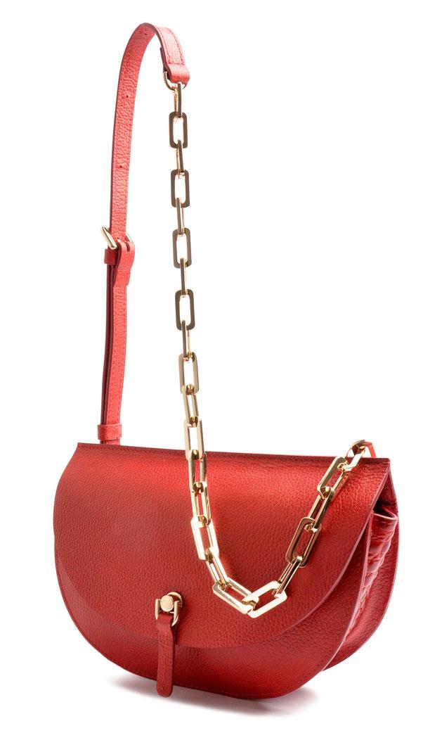 OSTWALD Bags . SADDLE . Bodybag . Leather . red . Shop Online . Handcrafted Bag