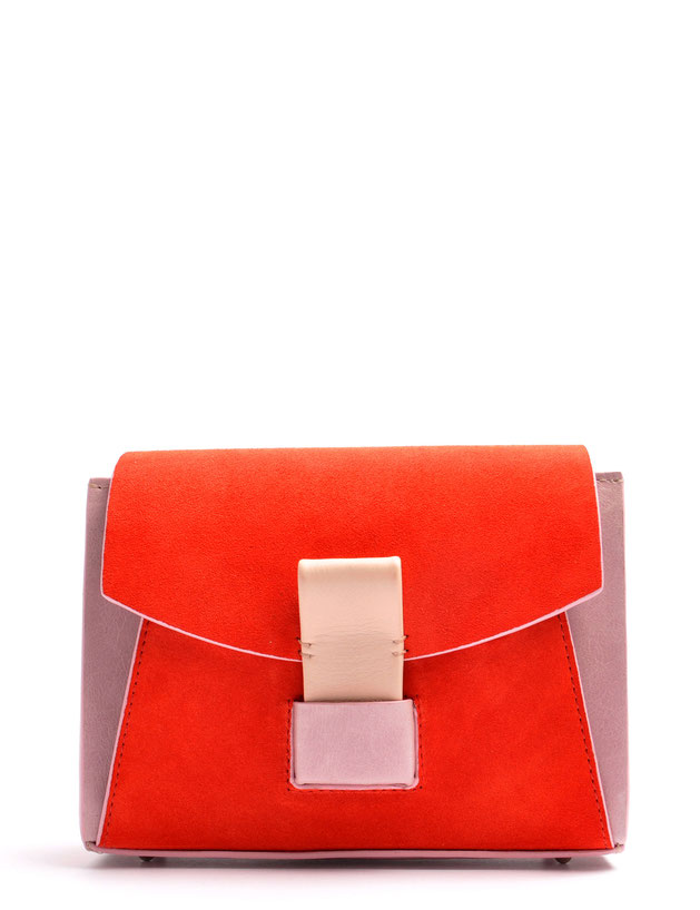 OSTWALD Bags . Finest Couture . Handcrafted Leatherbag . Shoulderbag . Glide Loop rose . red