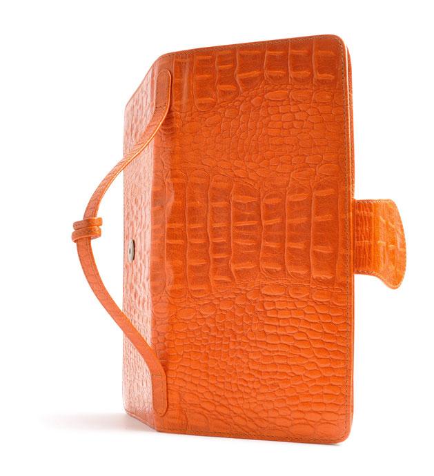 OSTWALD Bags . Opera . Clutch . Leather . orange . Shop Online