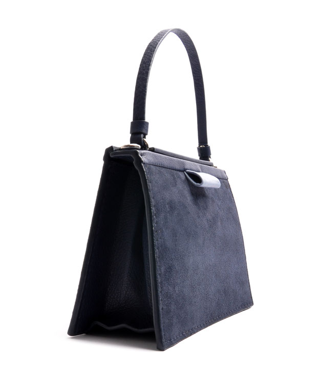 OSTWALD Bags . Finest Couture . Handcrafted Leahterbag . Tote . navy blue . acqua