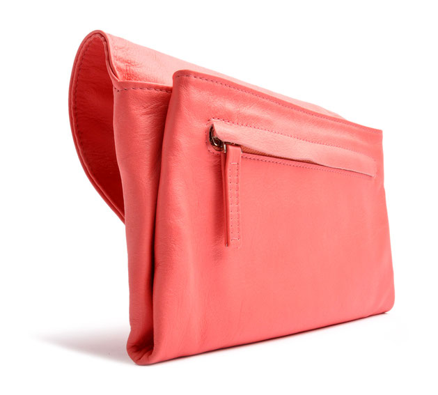 OSTWALD Bags . Finest Couture . Handcrafted Leatherbag . Clutch . Envelope Clutch . pink Clutch . Slow fashion
