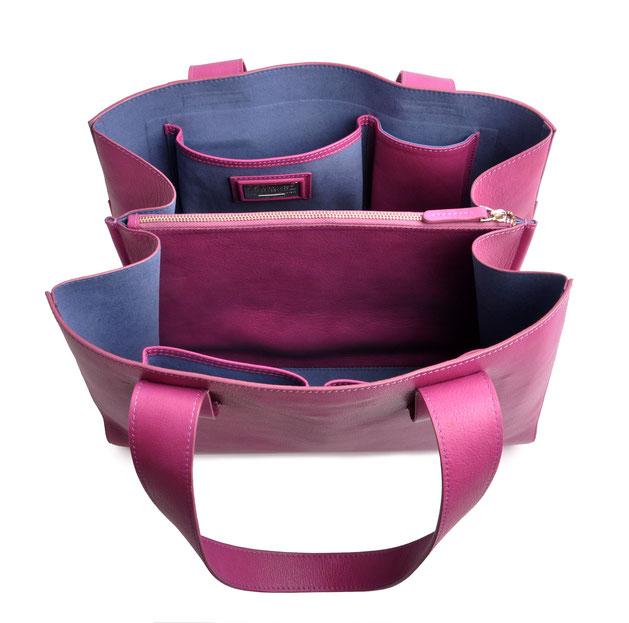 OSTWALD Bags . Shopper . pink  leather. Shop online . everyday bag .  Webshop