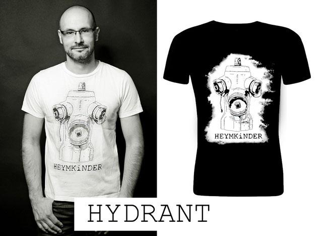 """Männer Shirt """"Hydrant"""" weiß oder schwarz - 29,50 EUR"""