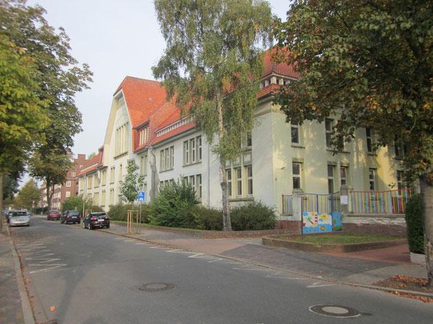 Ehemalige Gorch-Fock-Schule in Cuxhaven, ursprünglich eine Kaserne