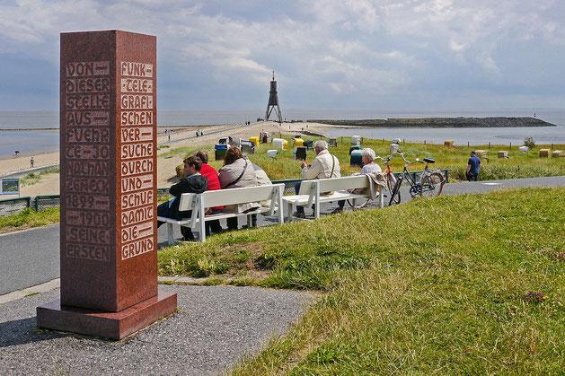 Zenneck Denkmal Cuxhaven  Historie