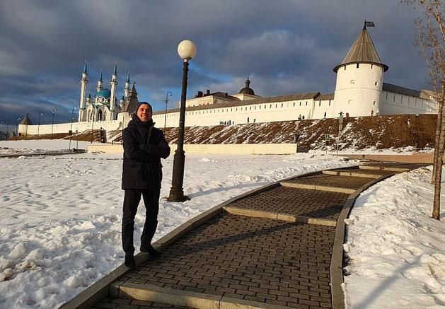 Visitando a clientes en Rusia
