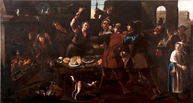"""Giacomo Francesco Cipper, detto il Todeschini, """"La rissa"""" (1736)"""
